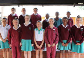 Left to right (back): James Naude, Jacques Barnard, Keagan Vermeulen, Phiwe Mncube, PhiwaDlamini and Sonqoba Ndlovu (front): Reese Peters, Emily Dovey, Kelly Wislon, Melissa Younie, Danielle van Zyl, Manelisi Gwala and Megan Wood (Absent : Chloe Dellar)